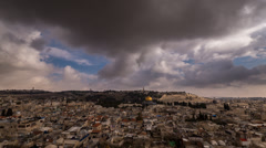 Jerusalem panoramic clouds timelapse 1213 4 4K - stock footage