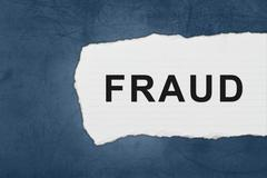 Fraud with white paper tears Stock Illustration