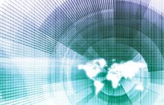 worldwide tracking - stock illustration