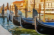 Stock Photo of gondola on the canals of venice