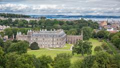 View of Edinburgh from Arthur's Seat Stock Photos