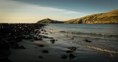 Stock Photo of Aramoana gentle waves