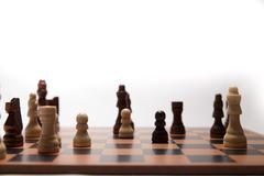 Chess game in progress Stock Photos