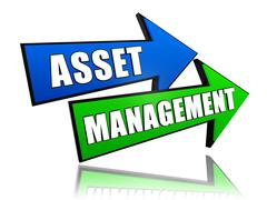 Asset management in arrows Stock Illustration
