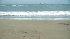 HD720p50 Young Woman in Bikini Running Into The Ocean. Stock Footage