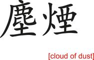 Chinese Sign for cloud of dust Stock Illustration