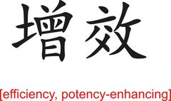 Stock Illustration of Chinese Sign for efficiency, potency-enhancing