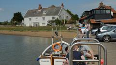 Orford Quay, Orford, Suffolk, England, United Kingdom Stock Footage