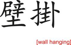 Chinese Sign for wall hanging - stock illustration