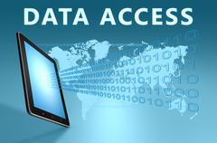 Data access Stock Illustration