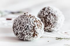 Shaped sphere chocolate sweets Stock Photos