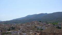 Spain, Caravaca de la Crus town, general cityscape, high angle. Stock Footage