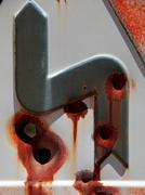 Gunned traffic signal Stock Photos