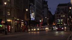 Haymarket Street in London evening shot Stock Footage