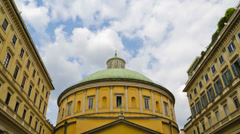 Basilica cloudy and blu sky timelapse Stock Footage