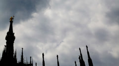 Madonnina Milan clouds timelapse Stock Footage