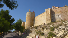 Spain, town Caravaca de la Crus, Castle of Santa Cruz. Stock Footage