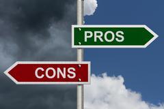 Pros versus cons Stock Illustration