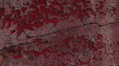 Old paint flaking off wood suggesting dry flaky uncared for Stock Footage