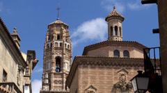 Types of Poble Espanyol (Spanish Village) at Barselona, Spain. Stock Footage