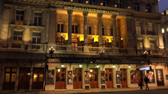 Her Majestys Theatre at Haymarket London shows Phantom of The Opera Stock Footage
