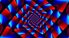 Vortex square zoom in & out candy - LoopNeo VJ Loops HD 1920X1080 Stock Footage