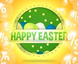 Stock Illustration of happy easter modern button