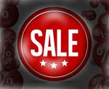 Stock Illustration of red sale button