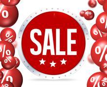 Sale creative graphic ilustration design Stock Illustration