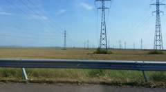 View from a Bulgarian highway Stock Footage