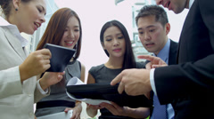 Mini Tablet Hot Spot Young Multi Ethnic Business Team Stock Footage