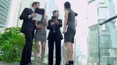 Multi Ethnic Business Team Success Congratulations Stock Footage