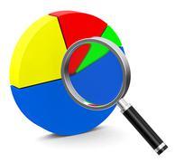 The statistic analysis Stock Illustration