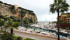 Port de Fontvieille, 3 Quai Jean-Charles Rey Av. Albert II Stock Footage