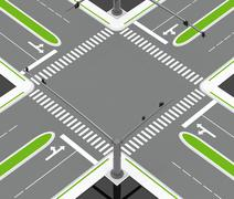 the crossroad - stock illustration