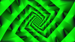 Rotating vortex square with color changes Green - LoopNeo VJ Loops HD 1920X1080 Stock Footage