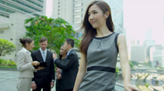 Portrait Financial Manager Multi Ethnic Colleagues Background Stock Footage