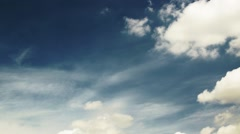 Timelapse - Blue Sky with moving Clouds Stock Footage