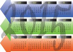 Daily monthly yearly 2015 calendar planning chart Stock Illustration