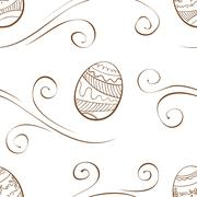 Seamless easter background with eggs Stock Illustration