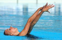 Russian olympic swimmer Liubov Leshchik Stock Photos