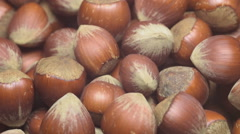 Turkish hazelnuts rotating - stock footage
