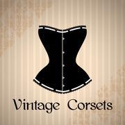 Vintage corset background Stock Illustration