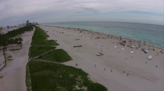 South Beach, Miami Florida, aerial view. Stock Footage