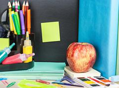 sticker for writing text and stationery - stock photo