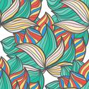Stock Illustration of abstract seamless hand-drawn pattern.