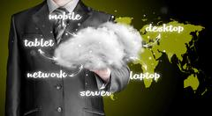 Cloud computing, technology connectivity concept Piirros