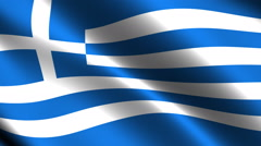 Greece flag waving in the wind. Looping animation - stock footage