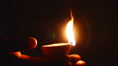 Deepak oil lamp. Deepavali Stock Footage