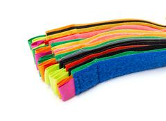 pack of colorful velcro strips - stock photo